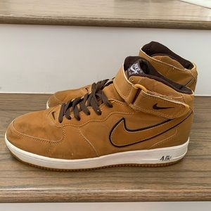Old School Nike Peanut Butter Air Force Ones